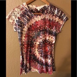 Maurices t shirt short sleeved tie dye/ fall Med